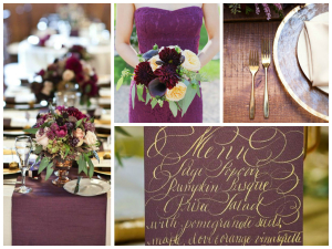 Plum and Gold Inspiration